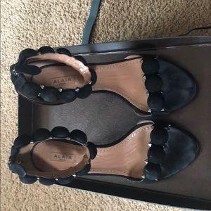 ALAÏA Suede Ankle-Strap Sandals